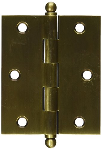 Deltana CH3025U5 Solid Brass 3-Inch x 2-1/2-Inch Cabinet Hinge with Ball Tips