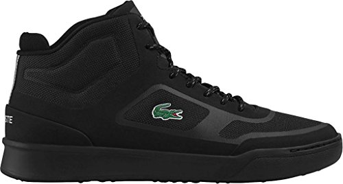 Lacoste Mens Explorateur Spt Mid 117 2 Sneaker Fashion Casual In Tessuto Nero / Sintetico