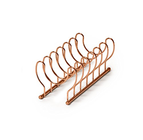 Spectrum Diversified Euro Lid Organizer, Plate Rack, Lid Holder, Rounded, Copper (Metal Plate Rack)