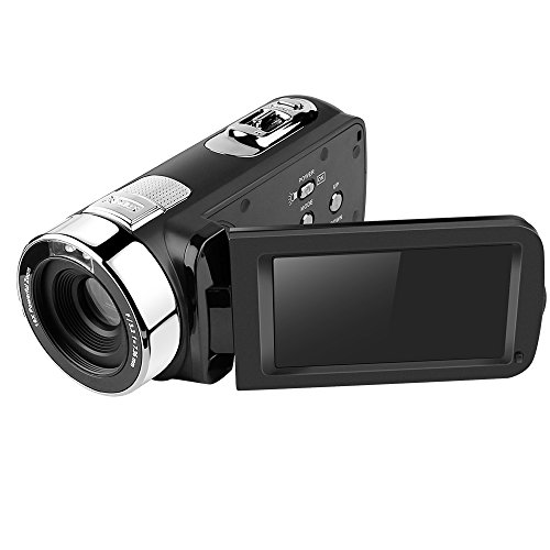 Digital Video Camcorder,Dotca RV07 FHD 3″ LCD Screen Camera Suppport IR Nigt Vision/ 270-degree Rotation/HDMI and AV Output with 16X Zoom 1080P /Battery for Home and Outdoor Video Recording