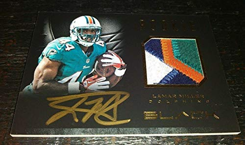 Lamar Miller 2012 Panini Black Prime Rc Rookie Autographed Auto Patch Card /99 - Panini Certified - Football Slabbed Autographed Rookie Cards ()