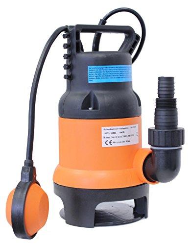 Schmutzwassertauchpumpe Schmutzwasserpumpe Tauchpumpe 400W 7500l/h Brunnenpumpe