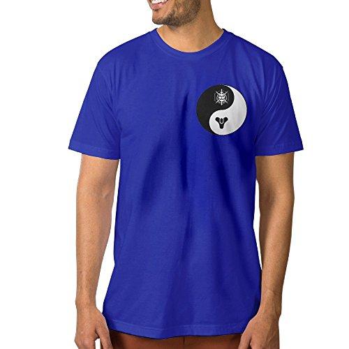 Custom Men's T-shirt Yinyang Destiny Tai Chi XL RoyalBlue (Shrek Costume Ideas)