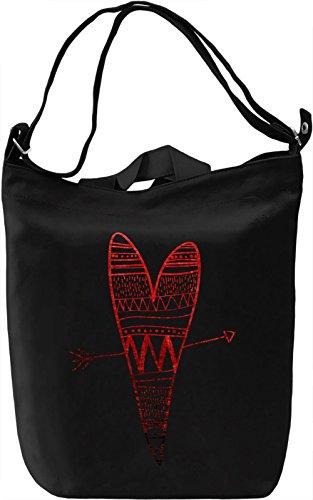 Graphic Heart Borsa Giornaliera Canvas Canvas Day Bag| 100% Premium Cotton Canvas| DTG Printing|