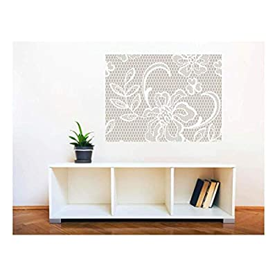 Pretty Design, Made With Top Quality, Removable Wall Sticker Wall Mural Lace Style Seamless Pattern Creative Window View Wall Decor