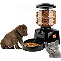 5.5L Automatic Pet Feeder Dispenser Waterer Dog Cat Self Feeding Food Water Bowl for Cat Dog with Voice Recorder and…