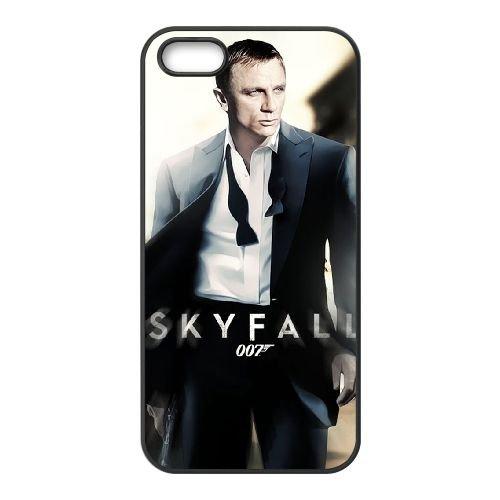 007 James Bond 031 coque iPhone 5 5S cellulaire cas coque de téléphone cas téléphone cellulaire noir couvercle EOKXLLNCD20978