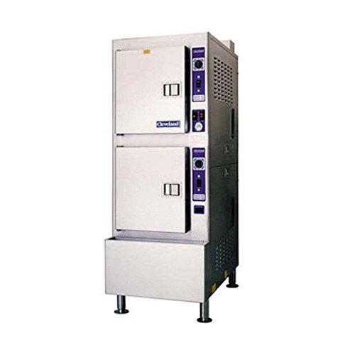 Cleveland 24CGP10 2 Compartment Gas Pressureless Steamer ()