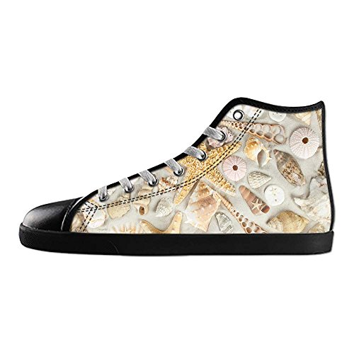 Dalliy Strand-Seestern Mens Canvas shoes Schuhe Lace-up High-top Sneakers Segeltuchschuhe Leinwand-Schuh-Turnschuhe D