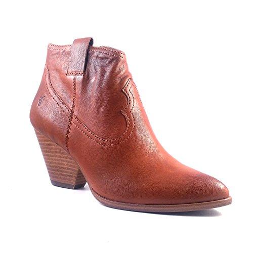 Toe Women's FRYE Cognac Leather Cognac M Reina 10 Pointed Booties 4ggvZwq