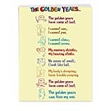 NobleWorks Jumbo - Funny Birthday Card: 'Golden Years' with Matching Envelope Extra Large Version, 8.5 x 11 Inches (J0449)