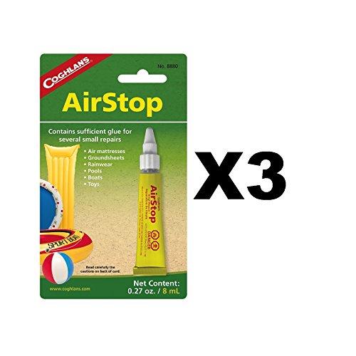 Coghlans Airstop Vinyl Inflatables Repair Liquid Patch Air Mattresses (3-Pack)