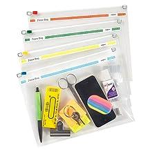 Snopake Zippa Bag - Paquete de 25 sobres de plástico (250 x 180 mm), sortidos