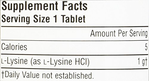 SOURCE NATURALS L Lysine 1000 Mg Tablet, 200 Count