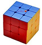 Toyshine High Stability Stickerless - 3x3x3 Speed Cube, Multi Color