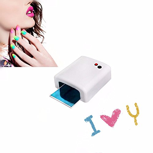 Pro Nail Polish Dryer Lamp 36W LED UV Gel Acrylic Curing Light Spa Kit+ 4 tubes from Unbranded*