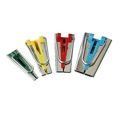 Tinksky ONU Set di 4 dimensioni tessuto Makers nastro Bias associazione strumenti per cucire trapunte 6mm 12mm 18mm 25mm