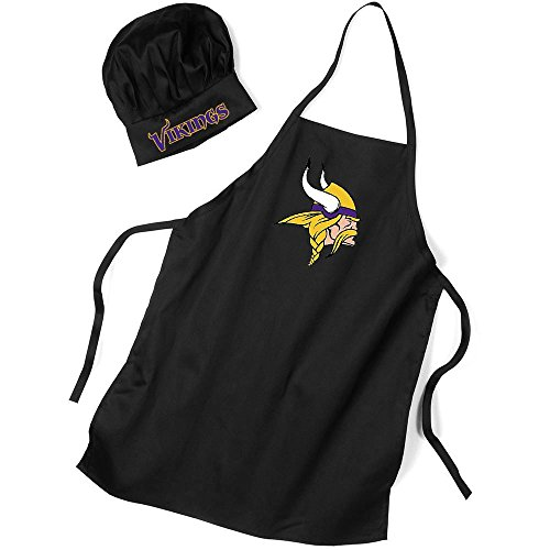 PSG INC NFL Sports Team Minnesota Vikings Apron and Chef Hat by PSG INC