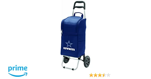 e91d6be6f9 Amazon.com   NFL Dallas Cowboys Insulated Cart Cooler with Wheeled Trolley
