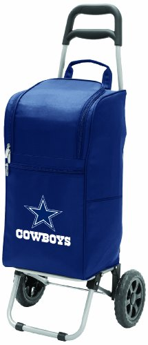 NFL Dallas Cowboys Insulated Cart Cooler with Wheeled Trolley, Navy