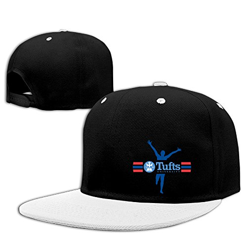 [WG Custom Fashion Unisex-Adult Tufts University TU Mark Hiphop Cap Hats White] (Jumbo Hip Hop Adult Hat)