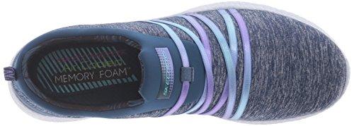 Skechers Burst-Alter Ego, Zapatillas para Mujer Navy