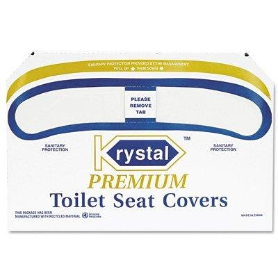 Krystal Premium Toilet Seat Covers - Toilet Seat Covers 250/Box - Covers Krystal Premium Toilet Seat