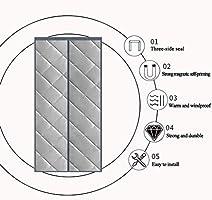 HMHD Cortinas Termicas Aislantes Frio y Calor, Cortina Termica Puerta Completo MagnéTico Cortina Aislamiento Acústico Anti-Frio, para Pasillos/ Puertas -Gris-100x220CM: Amazon.es: Hogar