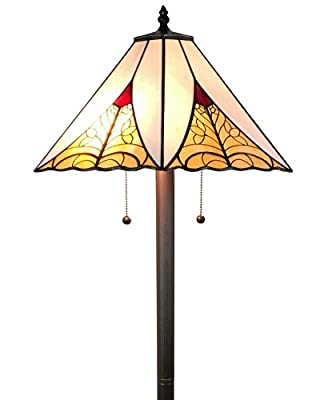 Amora Lighting AM259FL18 Tiffany Style Mission Floor Lamp 63 inch High