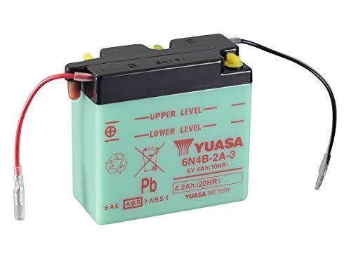 YUASA batterij 6N4B-2A-3 open zonder zuur