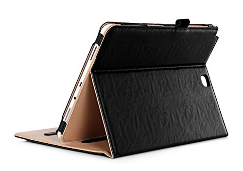 ProCase Samsung Galaxy Tab A 9.7 Case - Standing Cover Folio Case for 2015 Galaxy Tab A Tablet (9.7 inch, SM-T550 P550), with Multiple Viewing angles, auto Sleep/Wake, Document Card Pocket (Black)