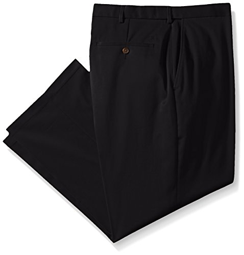 Haggar Big Tall Classic Fit Expandable Waist Plain Front
