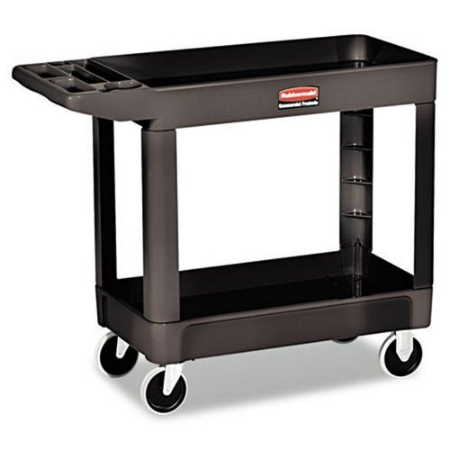 Rubbermaid Computer Carts - RCP450088BLA - Black Heavy Duty 2 Shelf Utility Cart, 17 1/8 quot; x 39 1/4quot;