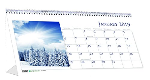(House of Doolittle 2019 Monthly Desktop Tent Calendar, Scenic, 8.5 x 4.5 Inches, January - December (HOD3649-19))