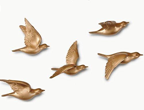SU@DA Polyresin/Harz Vogel Ornamente/Wand / / abstrakt/Vogel/Raum/Wohnzimmer Deko Zubehör/KTV / / 18 * 18 * 8 cm , gold