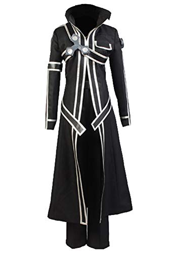 Anime Costume For Men (Ya-cos Halloween Costume Men's Kirito Anime Cosplay Battle Suit)