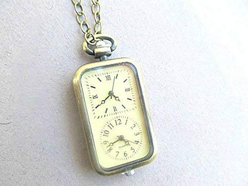 Two time zone Mechanical Steampunk Necklace, pocket watch, long distance relationship