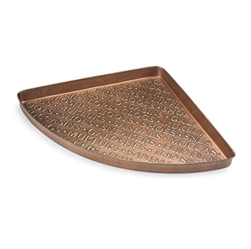 Good Directions International Multi-Purpose Corner Tray / Boot Tray / Shoe Tray - Copper Finish (22.5 in) - Plants, Pet Bowl, Garage, Entryway, Entrance, Foyer