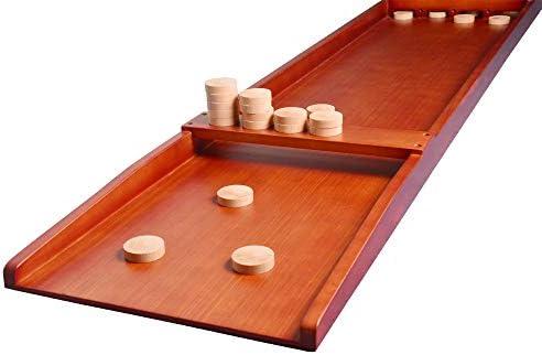 TORPSPORTS Nederlands Shuffleboard-Typisch Hollands Houten bordspel - Sjoelen met schijven/Pucks