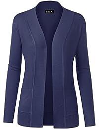 Women Open Front Long Sleeve Classic Knit Cardigan