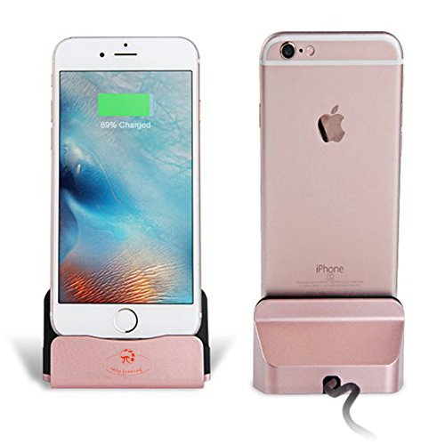iMoreGro Phone Dock Charging Stand Dock Station Compatible with Phone XS//X//8//8 Plus//7//7Plus//6//6 Plus//6s//6s Plus//5//SE Rose Gold