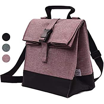 Amazon.com: Sunny Bird Rolltop Bolsa de almuerzo térmica ...