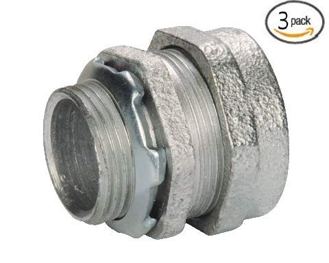 Malleable Iron Compression Connectors for Rigid Conduit and Intermediate Metal Conduit (IMC) (2 in. diameter, 3-pack)