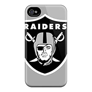New Design Shatterproof Hdb4050NMbj Case For Iphone 4/4s (oakland Raiders)