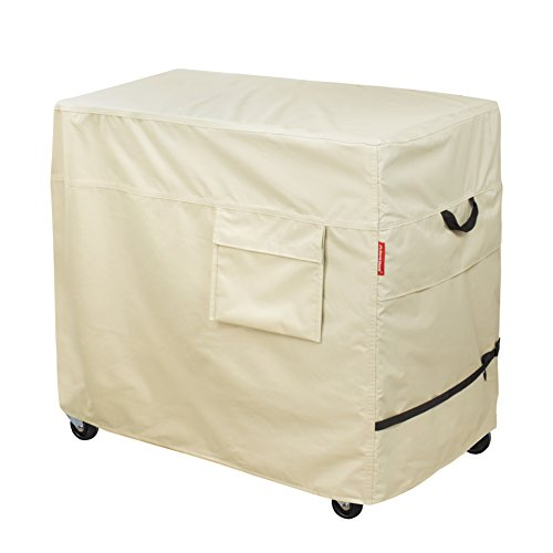 Porch Shield 100% Waterproof & Dust-Resistant 60-80 Qt Rolling Cooler Cart Cover Fits Most Patio Ice Chest Party Cooler Upto 28L x 18W x 30H inch by Porch Shield