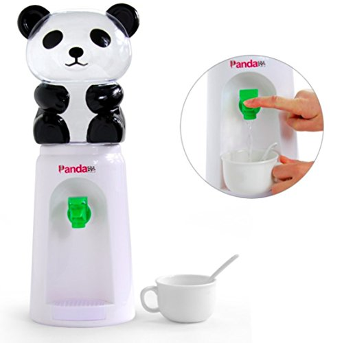 Panda Water Dispenser, 2.5 Liters Mini Refillable Water Bottle Cooler Drink Dispenser for Desk Room Home Office - White