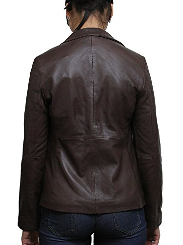 Fit cuir Biker Manteau Designer Brandslock Mesdames Blazer Veste Femmes Slim Regardez Marron qIntSF