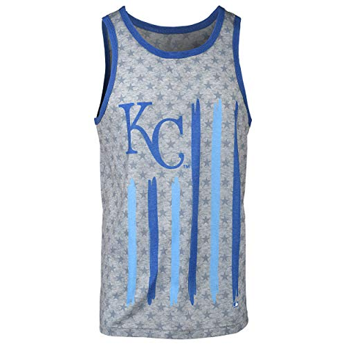 FOCO MLB Kansas City Royals Big Logo Flag Tank - Mens Double Extra Large