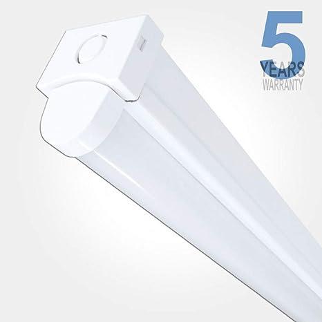 LED Linear Batten Light Fitting 6 ft 65W Twin Power 7800 Lumen LED Batten