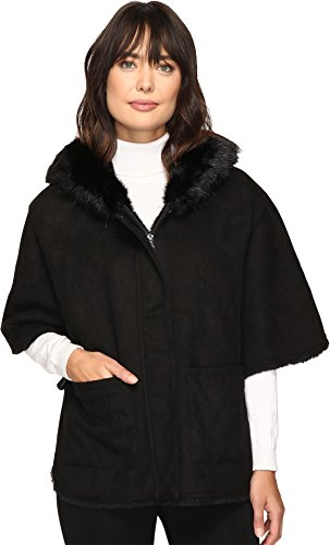 Lauren by Ralph Lauren Women's Cape Shearling Black - Lauren Cape Ralph